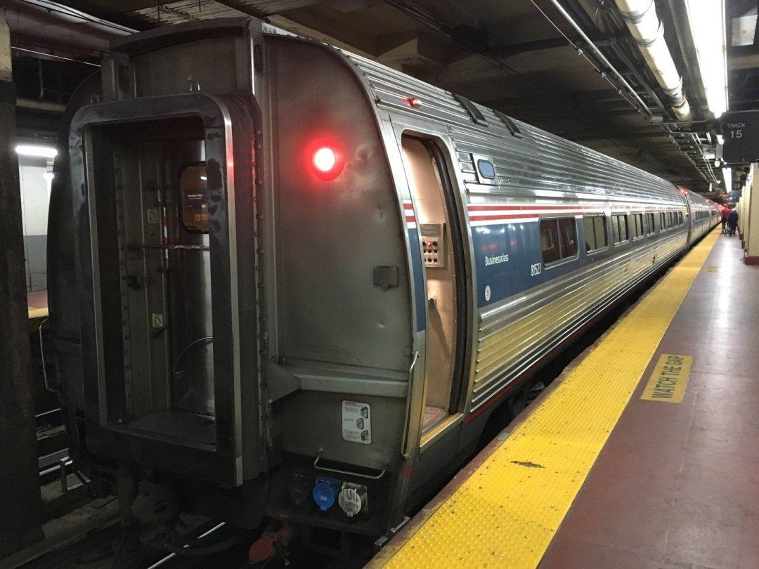 El tren en Penn Station