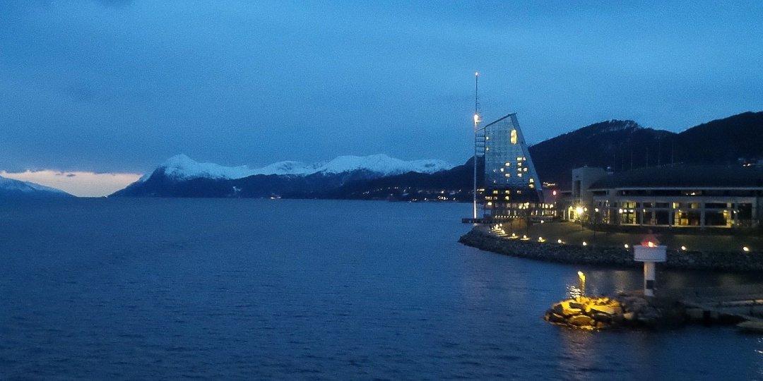 Llegando a Molde en el Hurtigruten