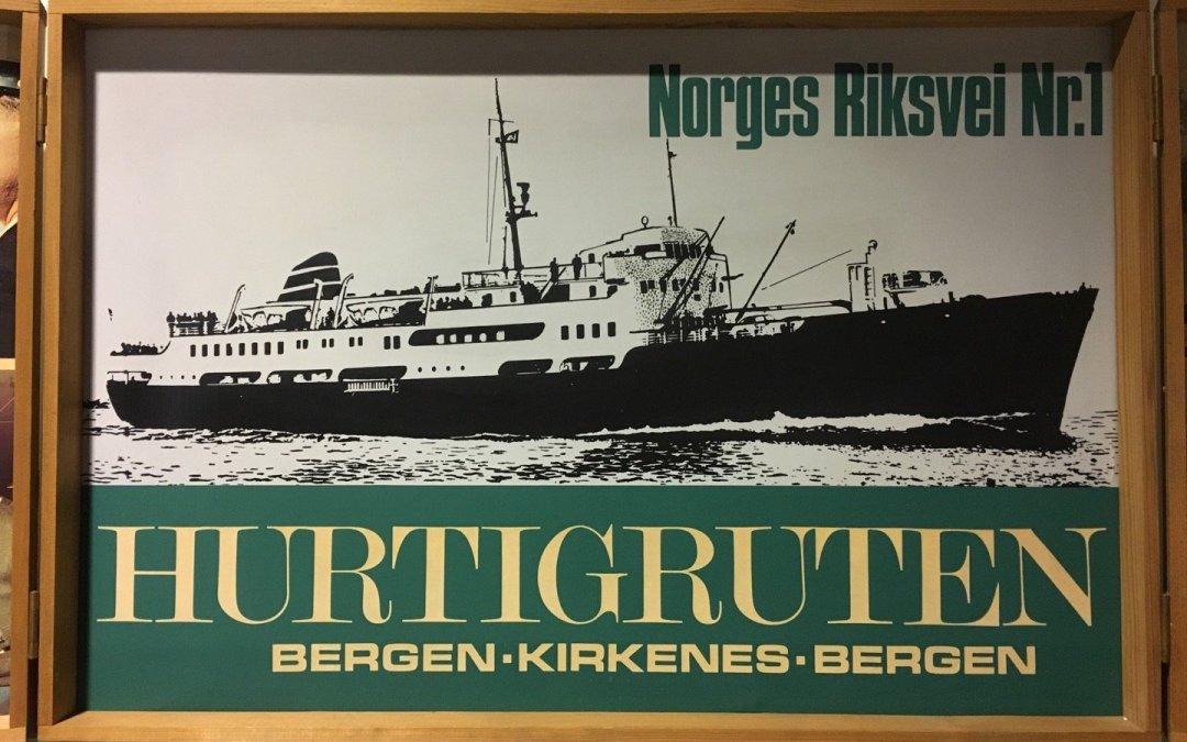 Publicidad antigua de Hurtigruten