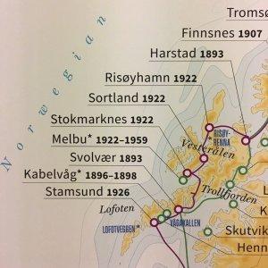 Ruta de Hurtigruten por las Lofoten