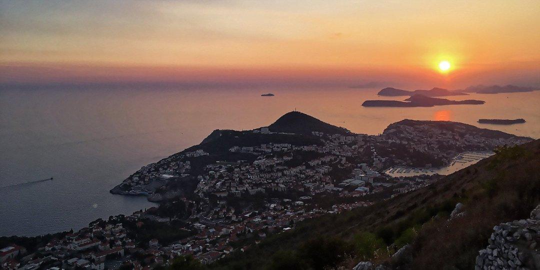 Puesta de sol en Dubrovnik