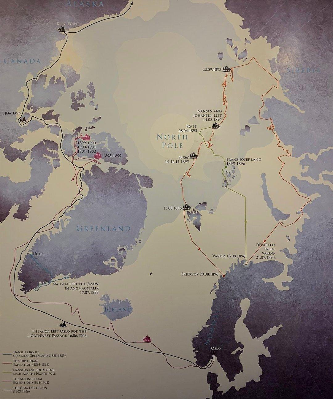 Expediciones árticas de Nansen y Amundsen