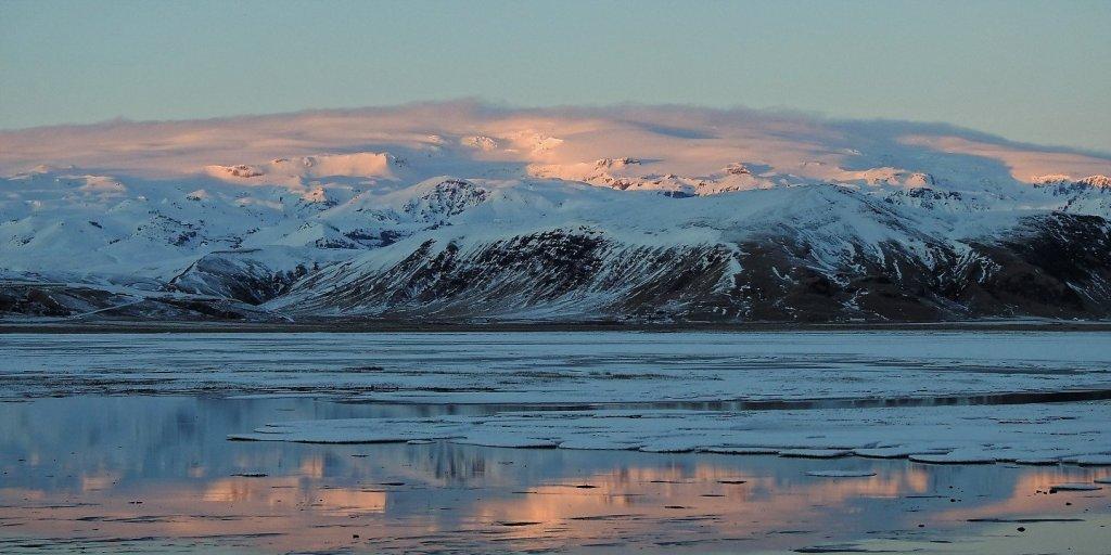 El Mýrdalsjökull desde la carretera a Dyrhólaey