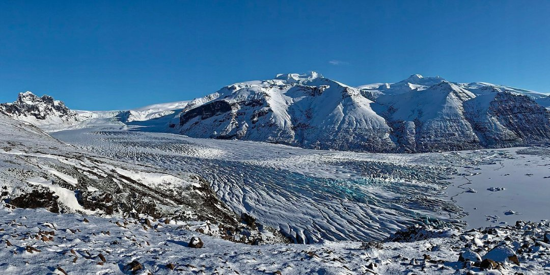 El Skaftafellsjökull desde Sjónarnípa