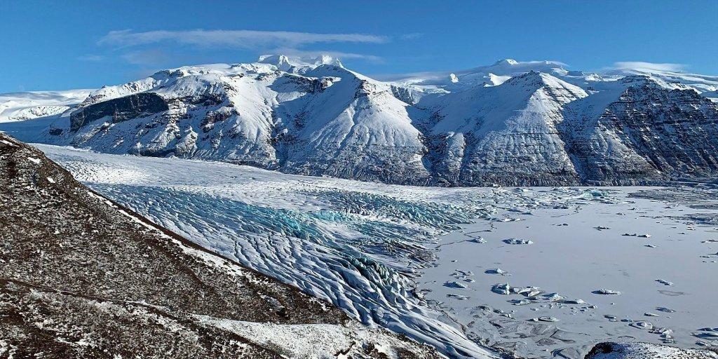El Skaftafellsjökull y la laguna glaciar