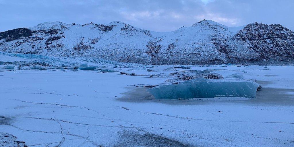 Laguna glaciar frente al Skaftafellsjökull