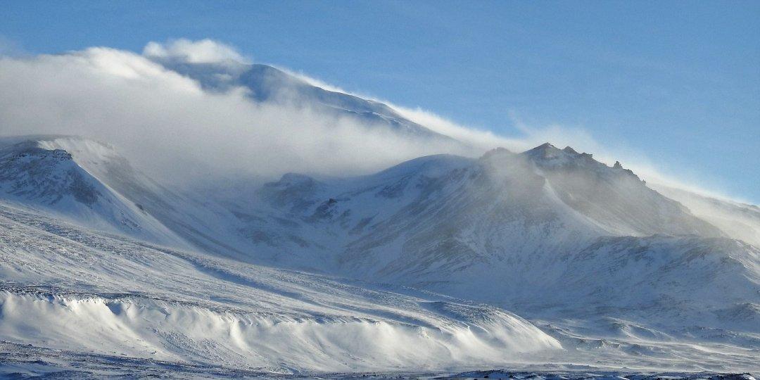 Nubes de ventisca sobre Snæfellsjökull 1