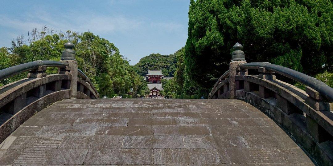 Tsurugaoka Hachimangū desde Taiko-Bashi