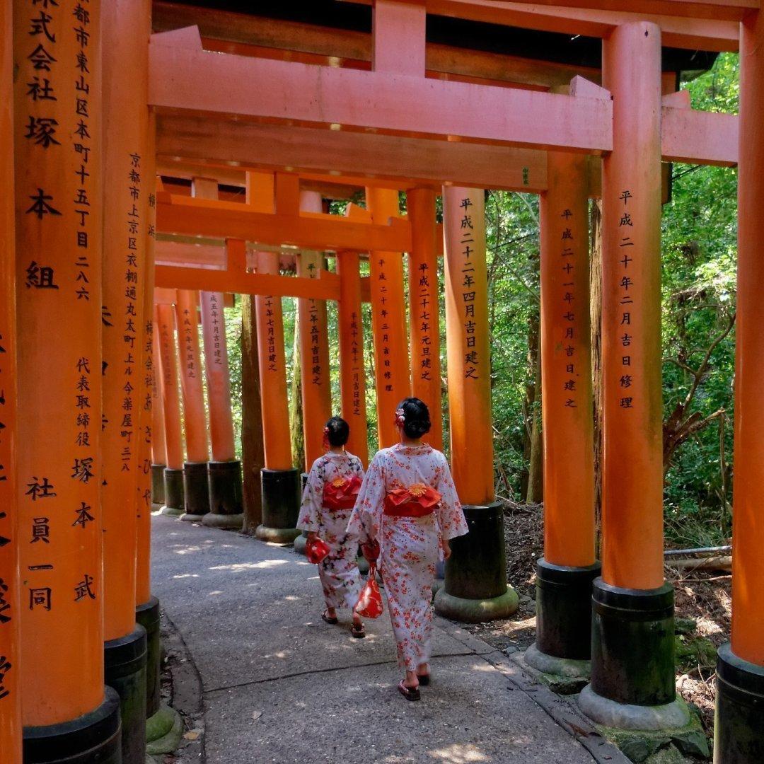 Japonesas en Fushimi Inari