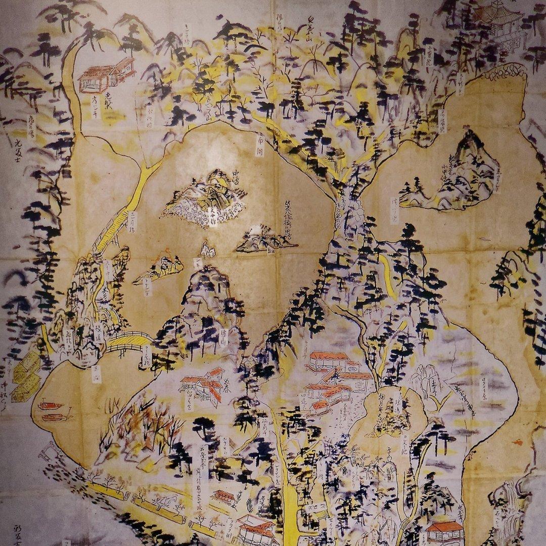 Mapa antiguo de Ritsurin