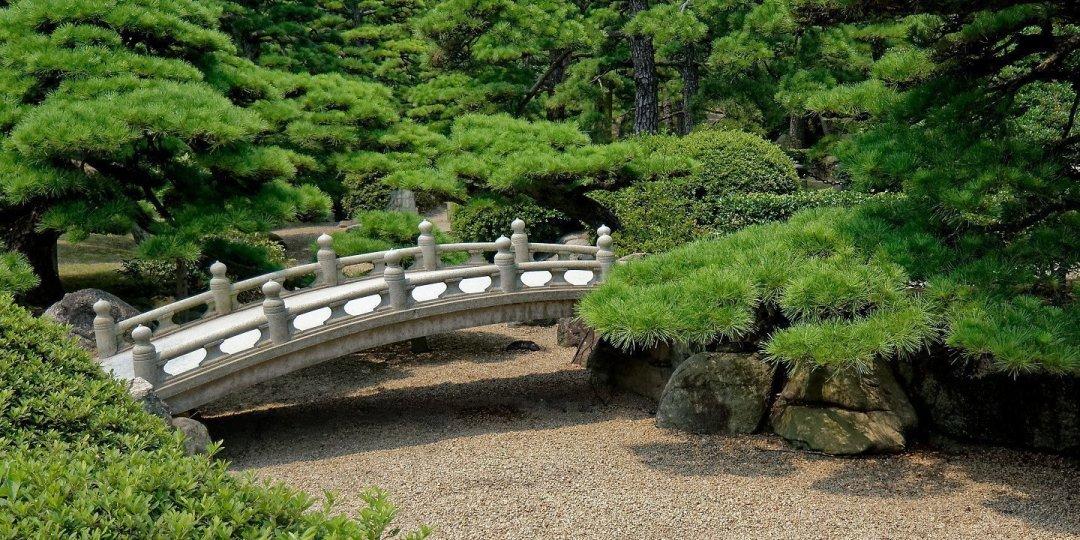 Puente en el parque Tamamo