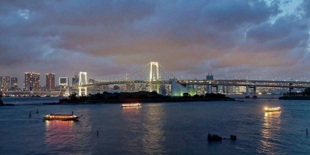 Crepúsculo desde Odaiba