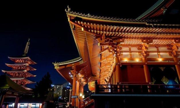 Día y noche en Sensō-ji