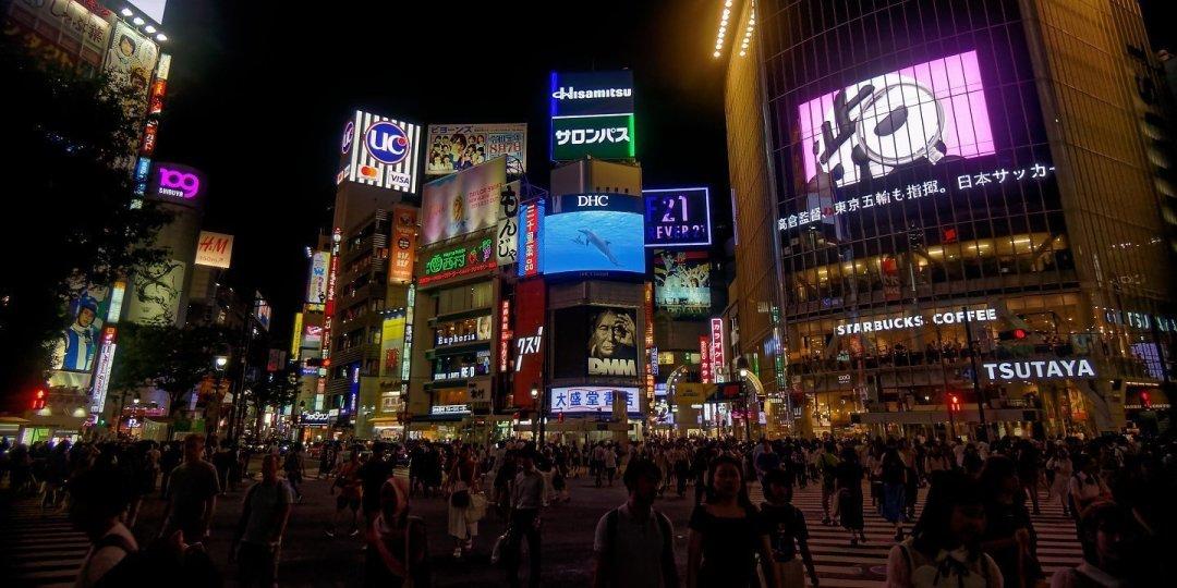 En el cruce de Shibuya