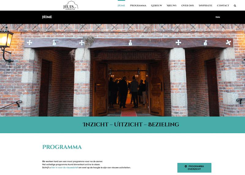 Nieuwe website voor Huis van Dominicus