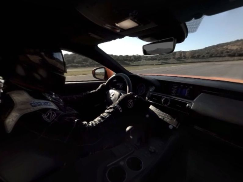 Lexus RC F Virtual Reality App Innenraum