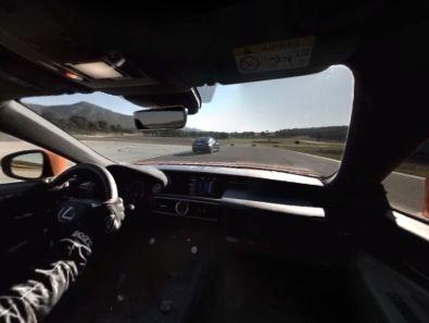 Lexus RC F Virtual Reality App Windschutzscheibe