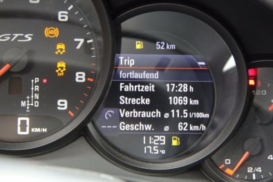 Porsche 911 GTS Bordcomputer nach Tag 3