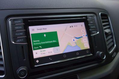 VW Sharan 2015 Android Auto Google Maps