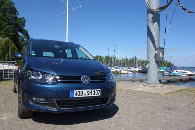VW Sharan 2015 Front Hudson Bay Blue Metallic