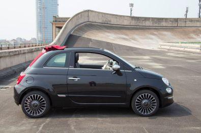 Fiat 500C 2015 Cabrio Seitenansicht