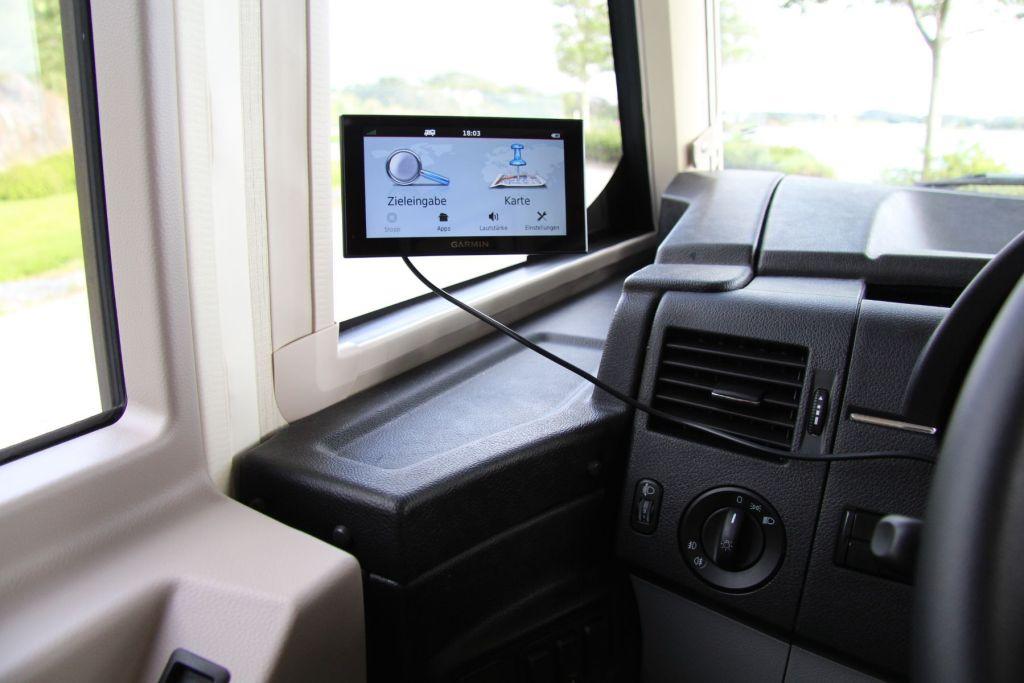 Garmin Camper 660LMT-D Eingebaut im Wohnmobil