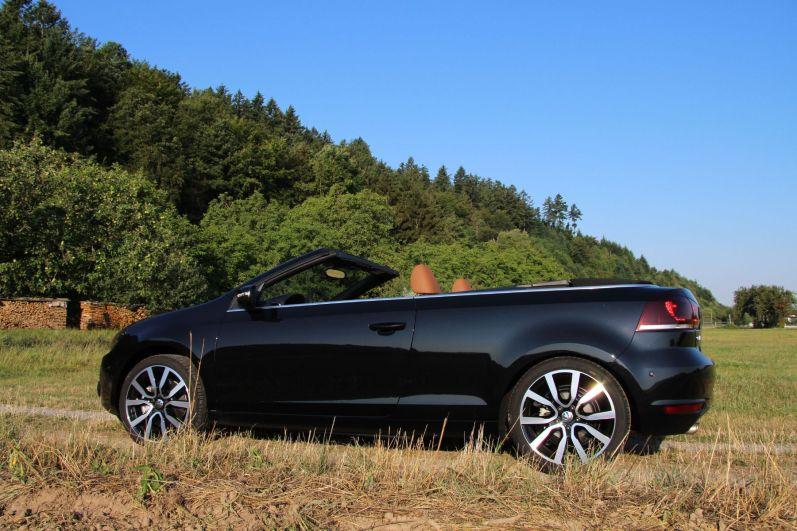 VW Golf Cabrio 2015 Seitenansicht Deep Black