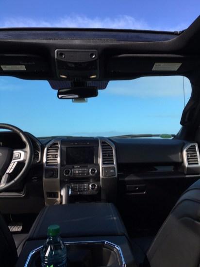 Ford f150 Cockpit und Panoramadach