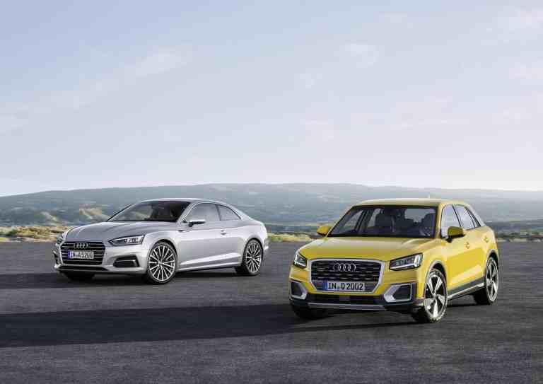 Audi Q2, A5 und S5 Coupé ab sofort bestellbar
