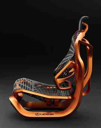 """""""Kinetic Seat Concept"""" von Lexus Seitenansicht"""