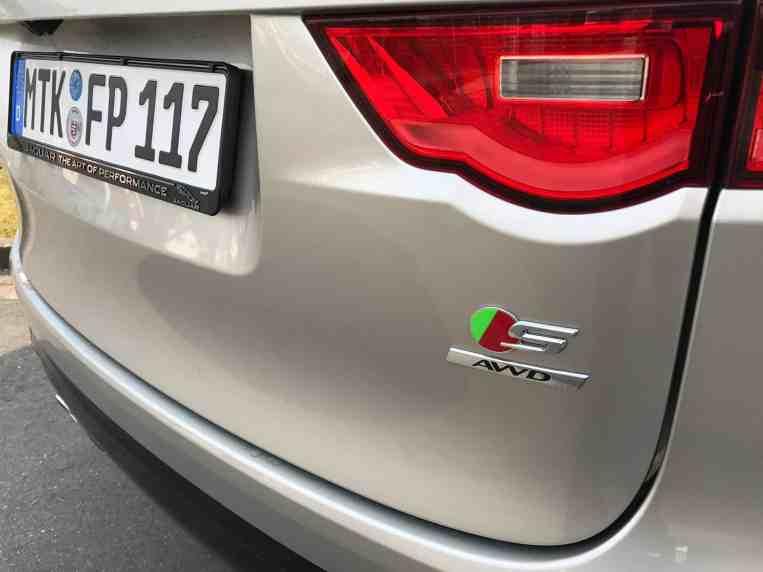 Jaguar F-Pace Schriftzug