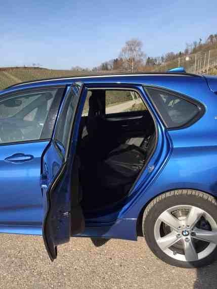 BMW 225xe Active Tourer Rücksitze