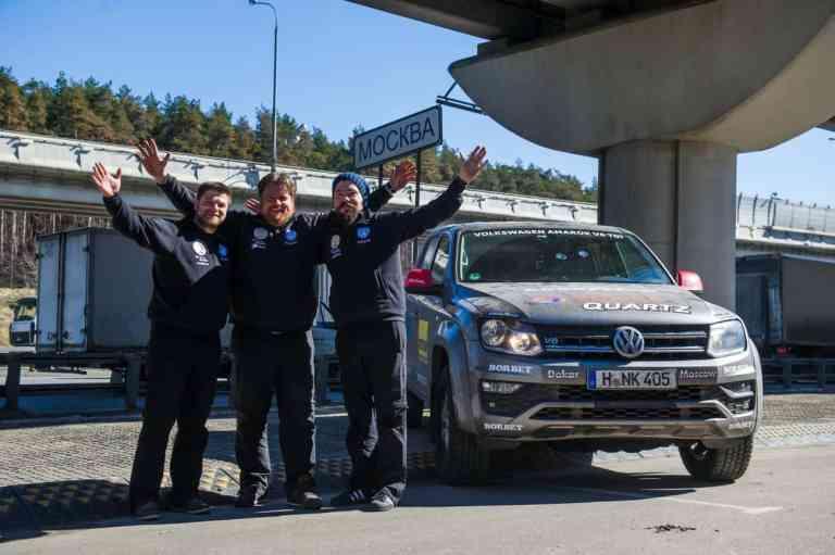 Heimweh nach Moskau? Weltrekordfahrt mit dem VW Amarok