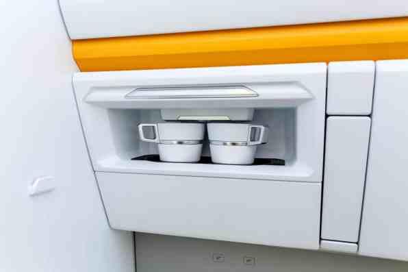 Praktisch: Eine Kaffeemaschine ist bei der Studie bereits integriert.