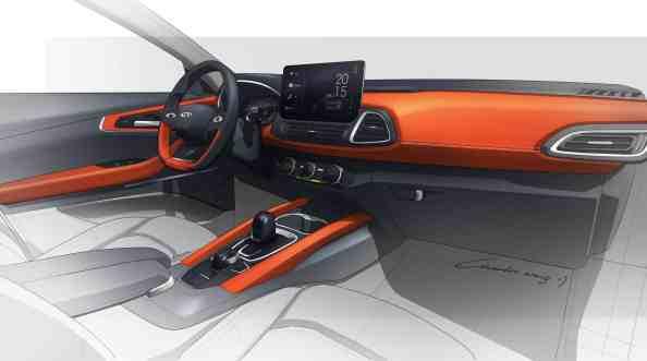 Designskizze eines geplanten Kompakt-SUV von Chery