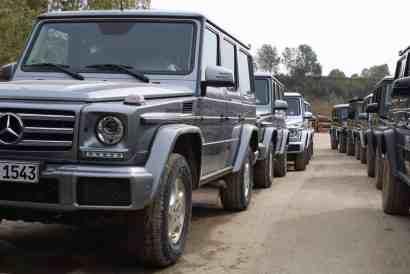 Mercedes Benz -Offroad Training in Kooperation mit Bridgestone