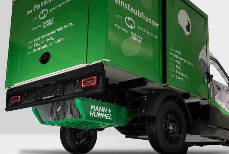 Street Scooter soll Feinstaub aus dem Fahrbetrieb herausfiltern