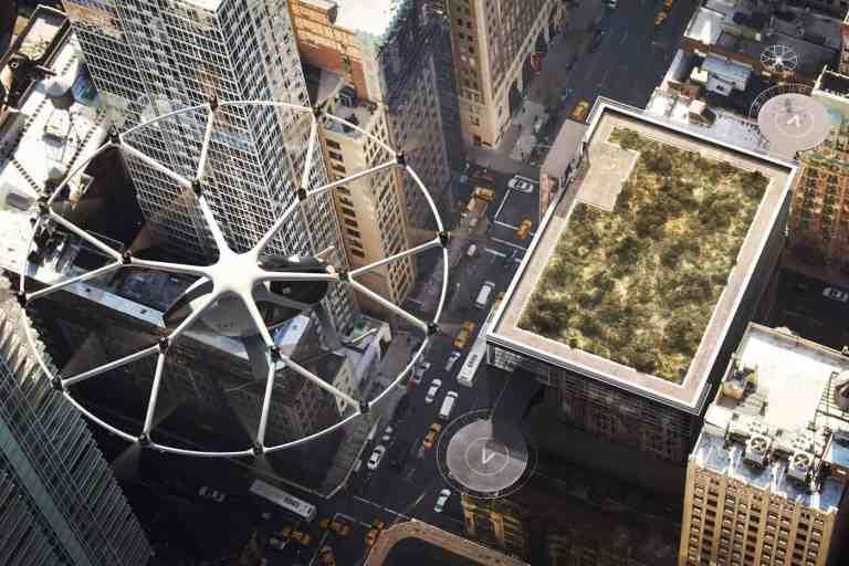 Das Lufttaxi fliegt elektrisch bis zu 27 Kilometer weit