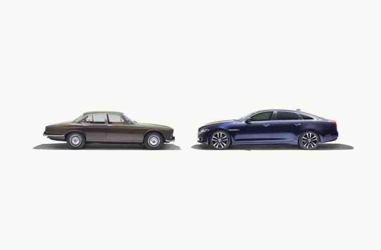 Jaguar XJ Series 1 (1968) und Jaguar XJ50 (2018)