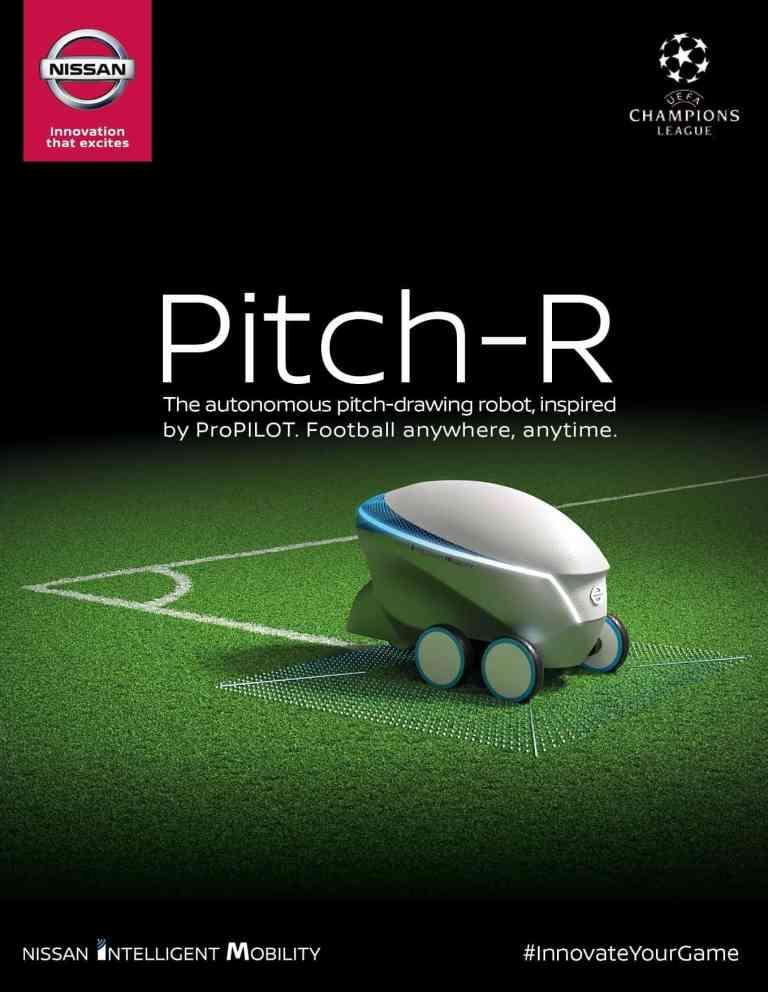 Ach was: Nissan Pitch-R Roboter beim UEFA Champions League Finale 2018