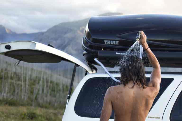 Dusche und Gartenschlauch für unterwegs: Roadshower