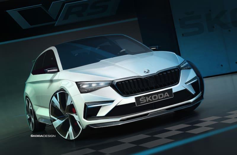 Pariser Motor Show: Škoda Vision RS fährt vor