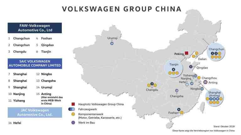 Volkswagen baut in China sein erstes Elektroauto-Werk