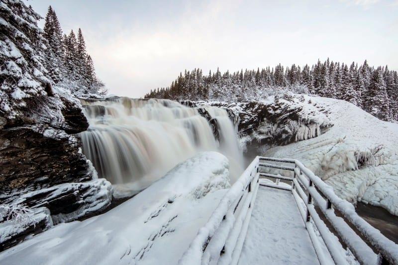 Schwedens größter Wasserfall