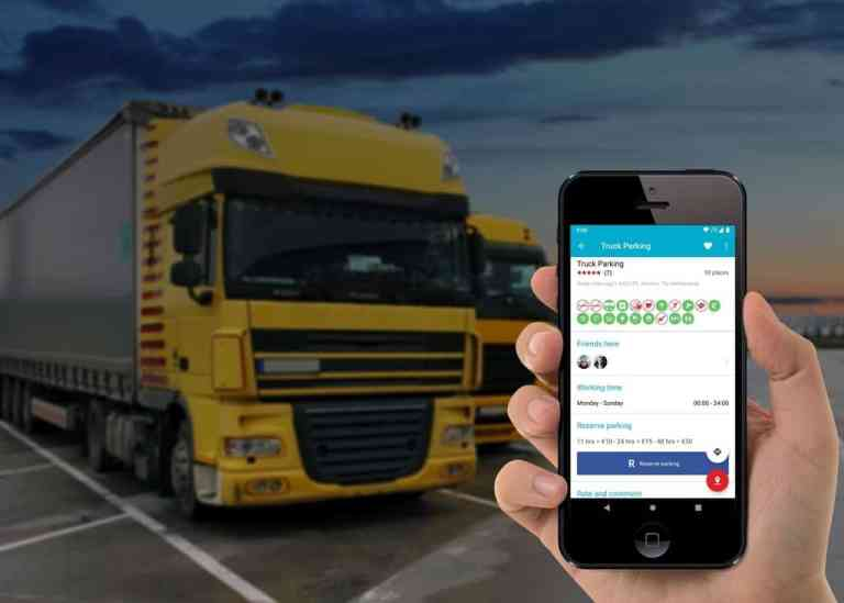 App Truck Parking Europe.