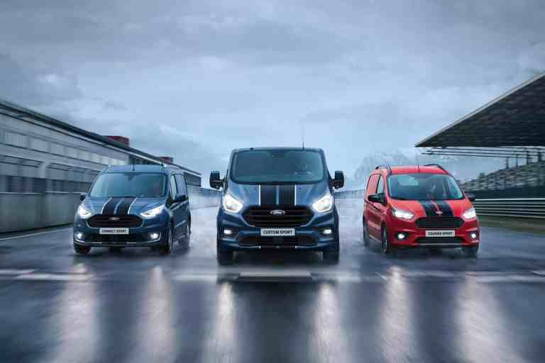 """Ford-Baureihen Courier, Connect und Custom auch als """"Sport""""-Varianten bestellbar"""