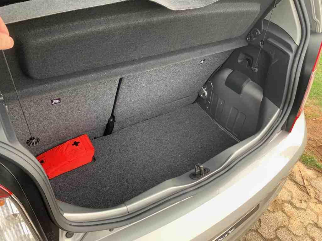 Skoda Citigo mit Erdgasantrieb, Kofferraum