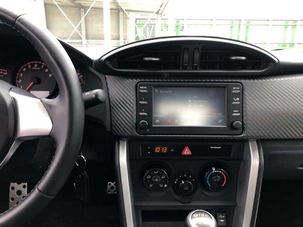 Toyota GT86, display