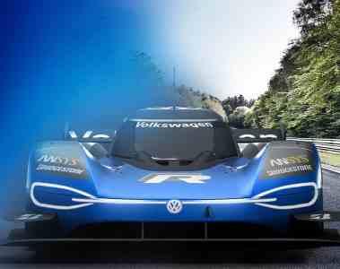 rein elektrisch angetriebener Volkswagen ID. R