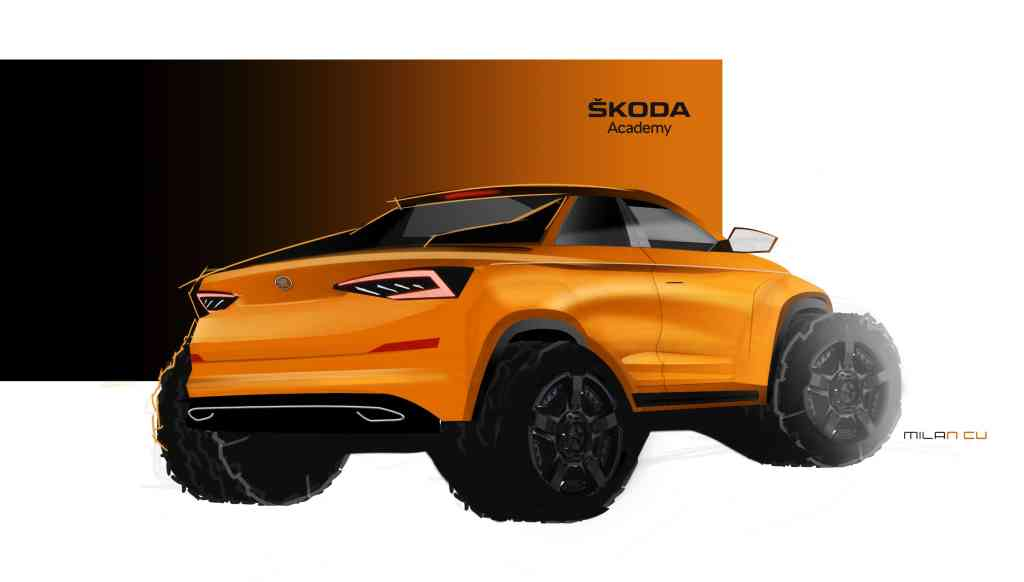 Nach dem Skoda Karoq Cabrio folgt das Pickup-Konzept Mountiaq